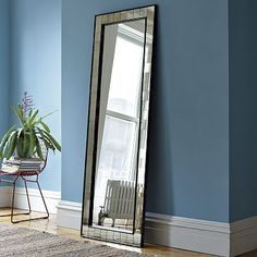 Antique Tiled Floor Mirror #westelm    West Elm 400.00
