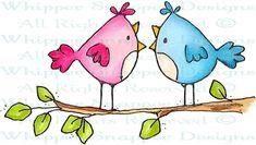 Hot Gossip - Birds - Animals - Rubber Stamps