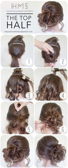 Cool and Easy DIY Hairstyles - The Top Half - Quick and Easy Ideas for Back to School Styles for Medium Short and Long Hair - Fun Tips and Best Step by Step Tutorials for Teens Prom Weddings Special Occasions and Work. Up dos Braids Top Knots and Buns Super Summer Looks