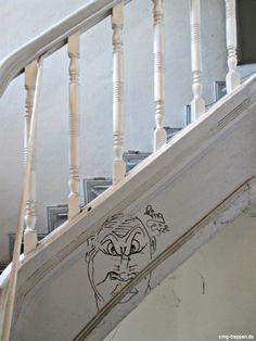 Treppengraffiti Photo by #smgtreppen www.smg-treppen.de #wirdenkenmit #escaleras #stairs #treppen