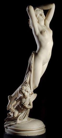 The Night 1855  Museo Nacional de Arte Decorativo, Buenos Aires, Argentina  Sculpture, Marble.  Joseph-Michel-Ange Pollet