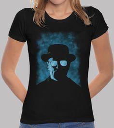 Tee shirt heisenberg. Tee shirt femme, noir, qualité supérieure. 625941. Tee shirt coupe standard qui s'adapte parfaitement à la silhouette féminine. Utilisation de pigments écologiques. Tissu spéc
