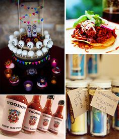 Day of the Dead wedding theme. Such a great idea for wedding favors & food.