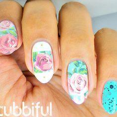 Vintage rose nail thumb370f
