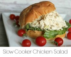 Chicken Salad {in a crock-pot} - onekriegerchick  NOTE TO SELF: Sub Greek Yogurt w/dill for Ranch Dressing