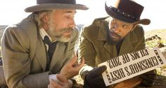 "Cristoph Waltz and Jamie Foxx in ""Django Unchained"""