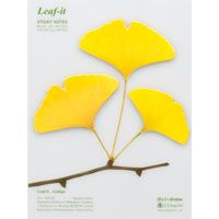 Leaf-it Ginkgo  nature inspired sticky notes for home and office use! I am Crazy for ginkgo leaves right now!