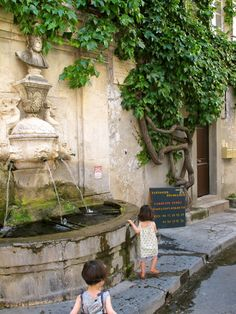 I wish my kiddos could have dipped their fingers in a hundred year old fountain- so sweet