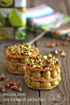 Hojaldre con crema de pistachosBavette | Bavette