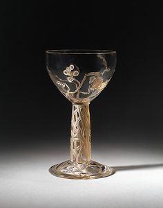 LALIQUE * Vigne (Vine) Cup Glass  1912 René-Jules Lalique (1860–1945)