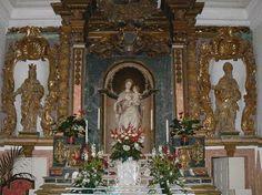 Antonello  Gagini o Gaggini - altare con la Madonna della neve nel Santuario di Santa Lucia del Mela-ME