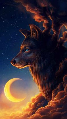 Tier Wallpaper, Wolf Wallpaper, Animal Wallpaper, Screen Wallpaper, Artwork Lobo, Wolf Artwork, Fantasy Wolf, Fantasy Art, Dream Fantasy