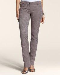 Floral Lace 5-Pocket Pant