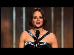 """Jodie Foster's Speech at Golden Globe Awards: """"I will continue to tell stories, to move people by being moved: the greatest job in the world...it will be my writing on the wall: Jodie Foster was here, I still am, and I want to be seen, to be understood, deeply, and to be not so very lonely."""" Golden Globe Award, Golden Globes, Reason To Breathe, The Last Movie, Jodie Foster, Taste The Rainbow, Foster Parenting, Modern Family, Coming Out"""