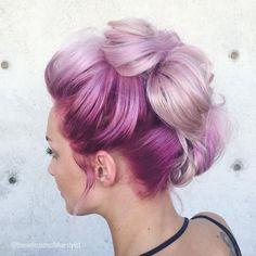 Cheveux pastel #cheveux #pastel #hair #rose #violet #tresse #monvanityideal