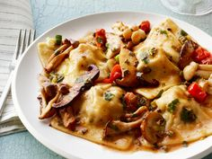 Bacon Ravioli With Mushrooms from FoodNetwork.com....this sounds and looks divine!