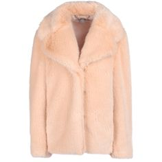 Stella Mccartney Fur Free Fur Dan Coat ($848) ❤ liked on Polyvore featuring outerwear, coats, jackets, outer, red coat, stella mccartney, stella mccartney coat, short coat and fur coat