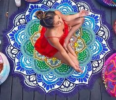 MANDALA ROUND FLOWER YOGA MAT 50% OFF Grab yours here >> http://bit.ly/2pM39Y...