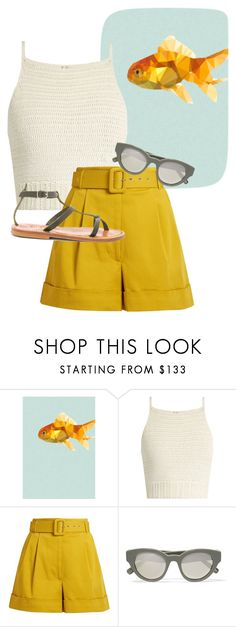 """""""Sem título #198"""" by visigodaa ❤ liked on Polyvore featuring Studio Cockatoo, SHE MADE ME, Isa Arfen, Elizabeth and James and K. Jacques"""