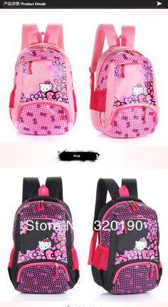 Kız Çocukları için 2015 ve 2016 Pembe Okul Sırt Çantası Modelleri - Girls Pink School Bag Models (8)