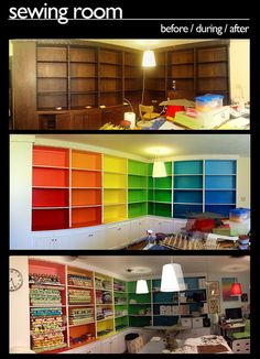 sewing room transformation, via Flickr.
