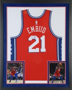 Authentic Signed. Joel Embiid Philadelphia 76ers Sports Memorabilia Deluxe  Framed Autographed Red Statement Nike Swingman Jersey ... 4926a8edd
