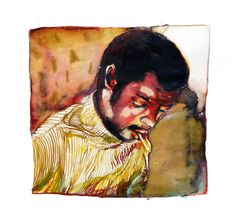 Jazz pianist portrait : Don Pullen Water color