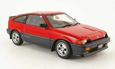 Honda CRX Si Autoart Si ballade sports cr-x red 1984 Honda Crx, Japanese Cars, Diecast Model Cars, Dream Cars, Classic, Vehicles, Sports, Collection, Design