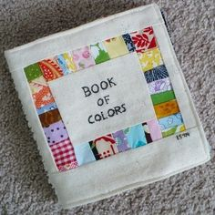scrap fabric book of colors