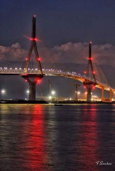 Puente la pepa Isaac Newton, Country Scenes, Cadiz, Andalusia, Golden Gate Bridge, City, World, Building, Places