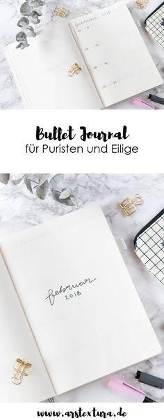 Bullet Journal für Minimalisten - Bullet Journal Inspiration und Ideen mit Layouts für einen Monat und jede Woche