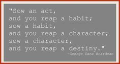 Habit Quote. Working on self-discipline and habit building