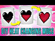 DIY Color Changing Mugs! Heat Activated | rosaliesaysrawr - YouTube