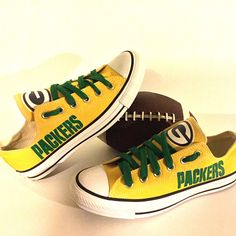 Green Bay Packers Converse Style Shoes - http://cutesportsfan.com/green-bay-packers-designed-sneakers/