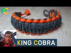 King Cobra Paracord Bracelet without buckle - YouTube