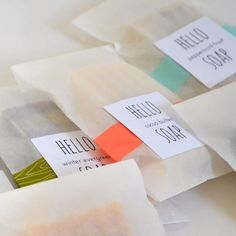 Choose FOUR Travel Soaps Individually wrapped all by hellosoap, $8.50