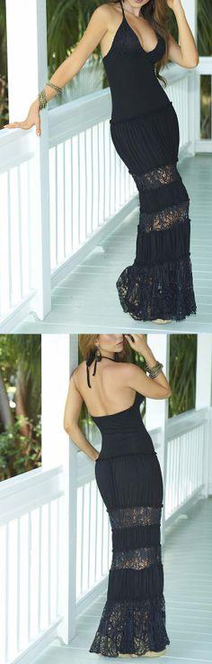 Such a cute, black maxi dress!