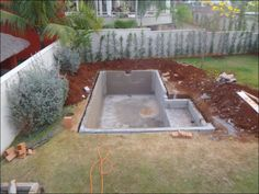DIY Swimming Pool With cinder blocks.. I hope I can find the end results pic