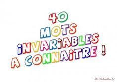 Les mots invariables (CE1)
