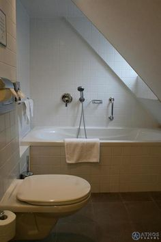 bathroom but add a shower head -- attic renovation