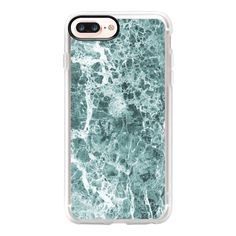 Sea foam marble stone texture - iPhone 7 Plus Case And Cover (275 HRK) ❤ liked on Polyvore featuring accessories, tech accessories, phone cases, iphone case, apple iphone case, clear iphone case, iphone cover case and iphone cases