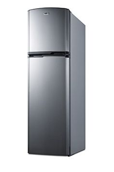 Summit's thin-line collection of frost-free refrigerator-freezers brings quality and convenience to even the smallest kitchen space. It offers a full cu. capacity inside a slim fit, with a unique curved door design for added style. The fresh food s Counter Depth Refrigerator, Refrigerator Organization, Compact Refrigerator, Top Freezer Refrigerator, Modern Kitchen Counters, Kitchen Appliances, Kitchen Ideas, Micro Kitchen, Tiny House Appliances