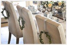 Austin American Statesman Christmas Holiday Table Setting Decor Idea Place Setting Green Sage White Silver