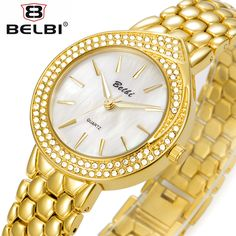 >> Click to Buy << BELBI New Fashion Watch Women Golden Stainless Steel Band Simple Elegant Style Casual Quartz Wristwatch Luxury Banquet Clock  #Affiliate