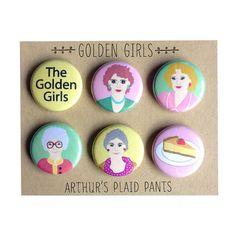 The deluxe Golden Girls magnet set