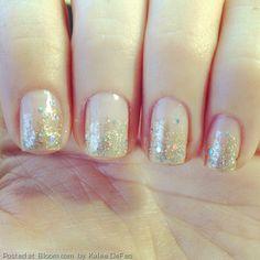 By+Kalee+DeFeo.+#glitterombre+#nails+#design+@Bloom.com