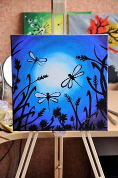 Small Canvas Paintings, Small Canvas Art, Easy Canvas Painting, Simple Acrylic Paintings, Mini Canvas Art, Easy Paintings, Acrylic Painting Canvas, Diy Painting, Canvas Size