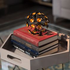 Conversation pieces come in all shapes and sizes so strike up a conversation over this fun metal sea urchin ornamental sculpture.