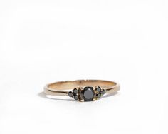 Black Diamond ring Engagement Ring Black Diamond Engagement Black Diamond Engagement, Classic Engagement Rings, Gold Engagement Rings, Diamond Wedding Bands, Black Wedding Rings, Style Outfits, Black Crystals, Moon Magic, Crown Jewels