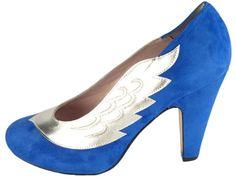 Minna Parikka: Lulu, 305 e Wing Shoes, Electric Blue, Blue Suede, Me Too Shoes, Stiletto Heels, Peep Toe, Pumps, My Style, Wedding Stuff